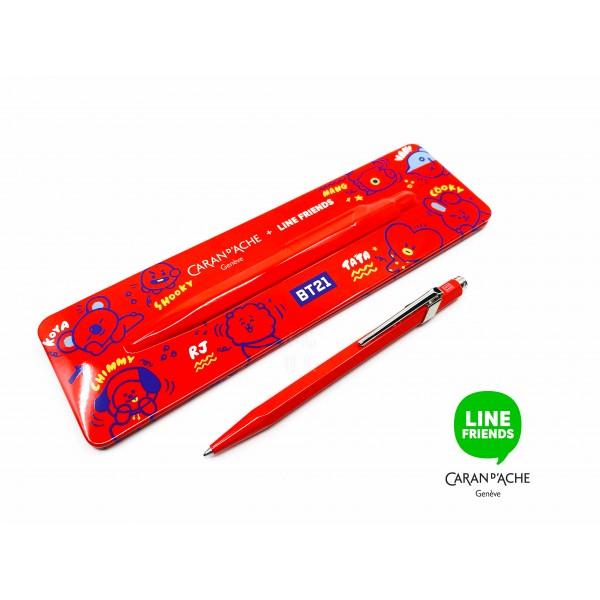 瑞士 卡達 Caran d'Ache 849 LINE FRIENDS 聯名款 限量版原子筆(BT21)
