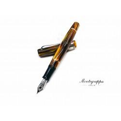 義大利 Montegrappa 萬特佳 全球限量80支 AMMIRAGLIO 1939 寫樂合作款 賽璐珞 18K 鋼筆(龜殼棕 Turtle Brown)
