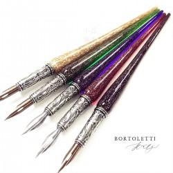 義大利 Bortoletti Set07 玻璃筆桿沾水筆+墨水+筆尖組