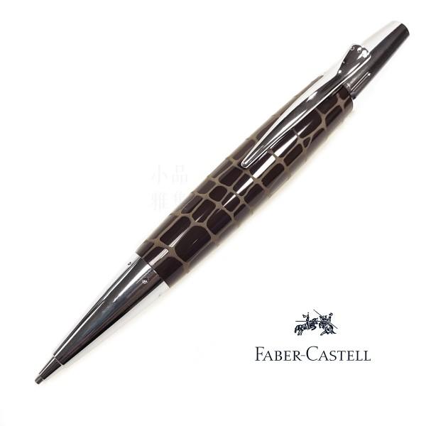 德國 Faber-Castell 輝柏 E-Motion系列 天然樹脂 鱷魚紋 深褐色 旋轉1.4mm鉛筆(138354)