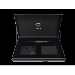 (預購商品,下單約3-5天可出貨)臺灣 SACA Dolphin X 碳纖菱格紋 鋼珠筆