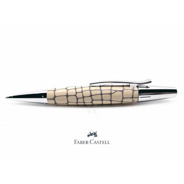 德國 Faber-Castell 輝柏 E-Motion系列 天然樹脂 鱷魚紋 象牙白 原子筆(148352)