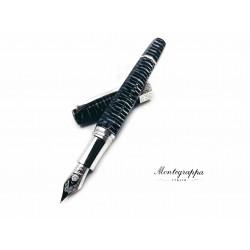 義大利 Montegrappa 萬特佳 EXTRA OTTO 全球限量888支 八角賽璐珞 18K 鋼筆(斑馬 Zebra)