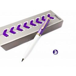 德國 Pelikan 百利金 k600 Violet-White 紫條 原子筆