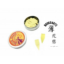 Book Darts bookdarts 薄疙瘩 書籤(50片裝)金色