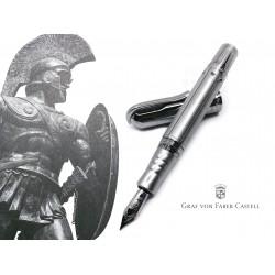 德國 Graf von Faber-Castell Pen of the year 2020年度限量筆 Sparta 斯巴達傳奇 限量310支 18K金 鋼筆(典藏銀白款)