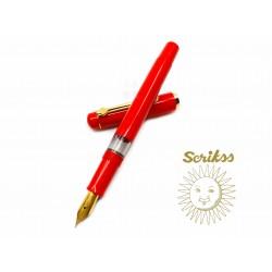 土耳其 Scrikss 419 活塞鋼筆(紅色)