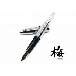 日本 PILOT 百樂 925純銀 梅花 14k金 鋼筆