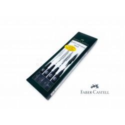 德國 Faber-Castell 輝柏 PITT 彩繪毛刷筆(黑色 167100)