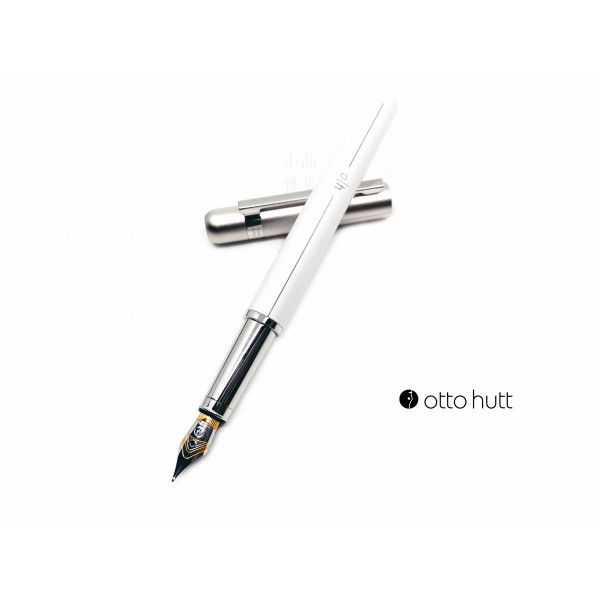 德國 OTTO HUTT 奧托赫特 Design03 light grey 珍珠白桿銀蓋鋼筆