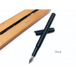 TA+d 創夏設計 Fiber| 竹織鋼筆(燻竹黑)