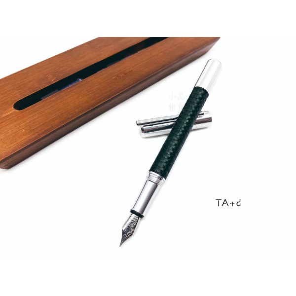 TA+d 創夏設計 Weave  竹織鋼筆(山野綠)