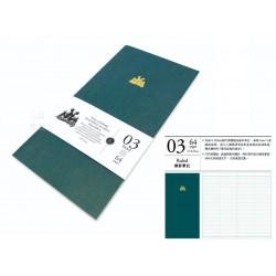臺灣 青青 KEEP A NOTEBOOK 寫筆記A5 Slim 機能筆記 旅人筆記本可用(3號橫罫筆記)