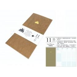 臺灣 青青 KEEP A NOTEBOOK 寫筆記A5 Slim 機能筆記 旅人筆記本可用(11號目標筆記)