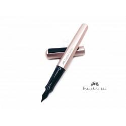 德國 Faber-Castell 輝柏 鋁合金 HEXO系列 鋼筆(玫瑰粉)(贈送輝伯原廠30ml墨水一瓶)
