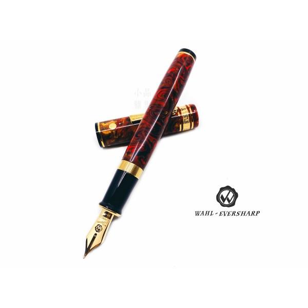 美國 Wahl-Eversharp DECOBAND 飾環系列 Oversized 14K金 氣壓上墨 鋼筆(FLAMENCO)