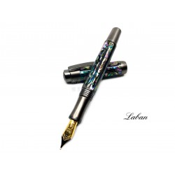 LABAN Abalone 鮑貝 螺鈿鋼筆(槍色)