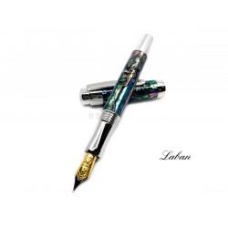 LABAN Abalone 鮑貝 螺鈿鋼筆(亮銀色)