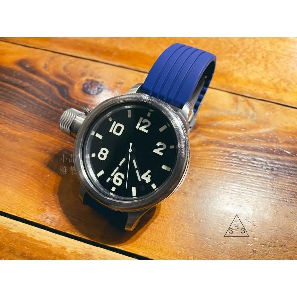 俄羅斯 ЗЧЗ 日拉鬥烏 藍寶石水晶玻璃 小型機械式 自動/手動上鍊 水鬼錶(鈦金53mm)