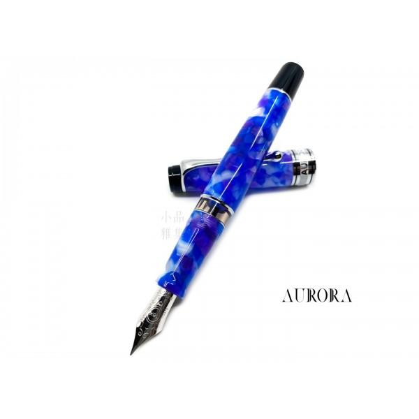 義大利 Aurora Caleidoscopio Luce Blue 萬花筒 18K鋼筆