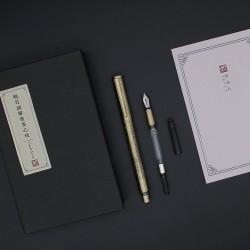 ARTEX 雅特仕 心經鋼筆/鋼珠筆 雙用替換超值組-古青銅