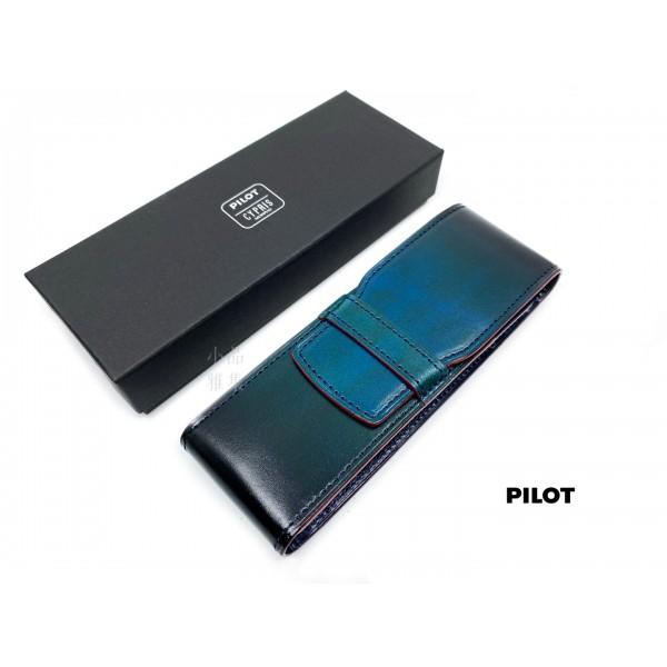 日本 PILOT 百樂×CYPRIS 2支裝 手染牛皮筆套(藍)