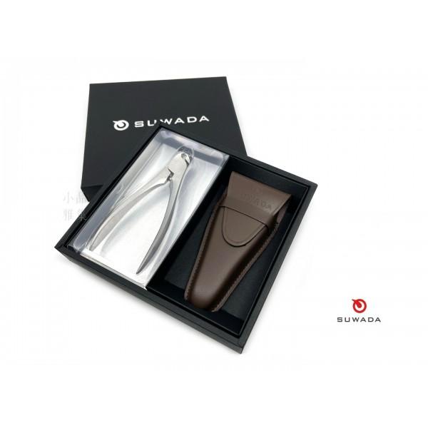日本 手工SUWADA 經典不鏽鋼指甲鉗(大)皮革收納禮盒組