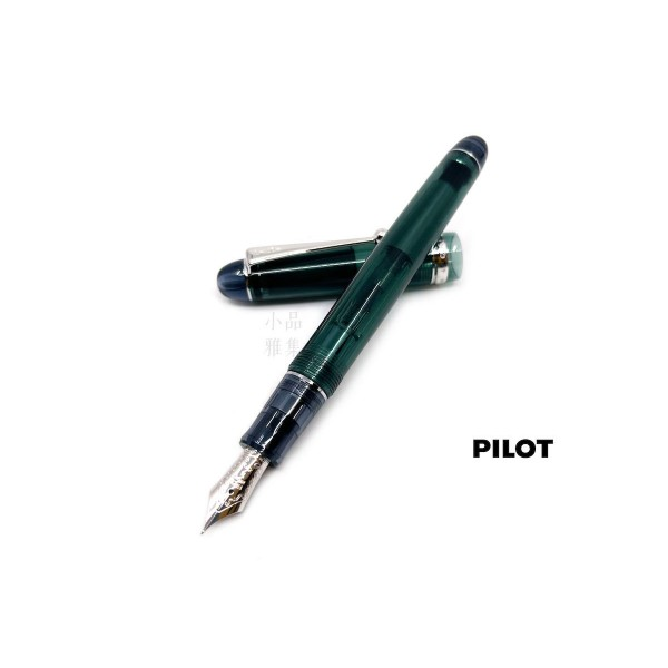 日本 PILOT 百樂 Custom 74 透明桿14K 鋼筆(綠)