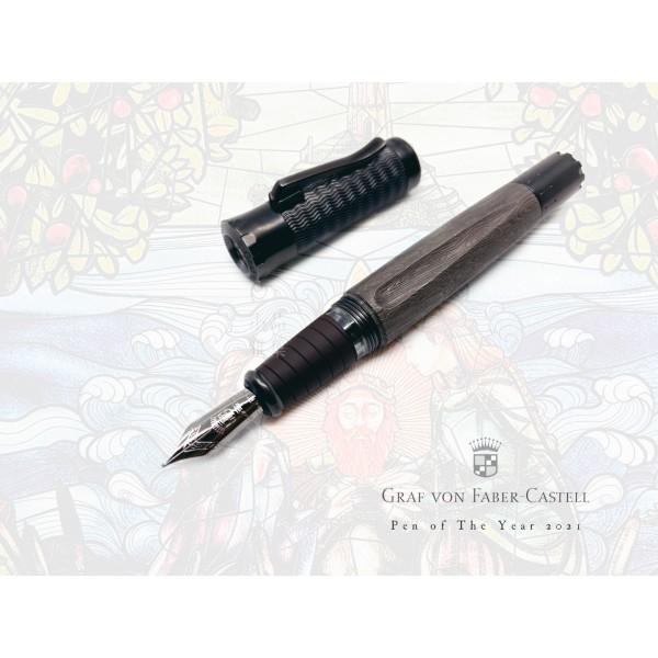 德國 Graf von Faber-Castell Pen of the year 2021年度限量筆 限量375支 18K金 鋼筆