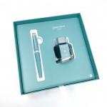 瑞士卡達Caran d'Ache Leman 利曼 18k金 鋼筆禮盒組(阿爾卑斯山藍)