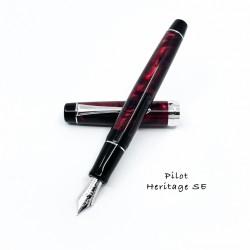 日本 PILOT 百樂 Custom Heritage SE 大理石紋 14K鋼筆 (艷紅)
