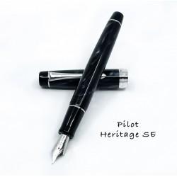 日本 PILOT 百樂 Custom Heritage SE 大理石紋 14K鋼筆 (煙黑)