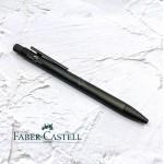 德國 Faber-Castell 輝柏 NEO 髮絲紋袖珍型 原子筆 夜灰(146255)