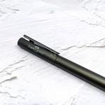 德國 Faber-Castell 輝柏 NEO 髮絲紋袖珍型 鋼筆 夜灰(146250/146251)