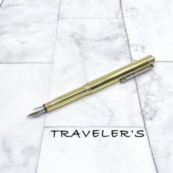 日本 MIDORI TRAVELER'S notebook TRC BRASS 鋼筆(黃銅)