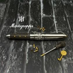 義大利 MONTEGRAPPA 萬特佳 全球限量300支 REVOLVER 左輪手槍 18K 鋼筆