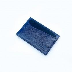 德國 Montblanc 萬寶龍 4810 Westside 真皮 水波紋 卡夾 藍色(118660)