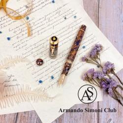 義大利 ASC Bologna Extra Blue Saffron 波隆那 藍藏紅花 氣壓上墨 18K鋼筆 ( The special forTaiwan)
