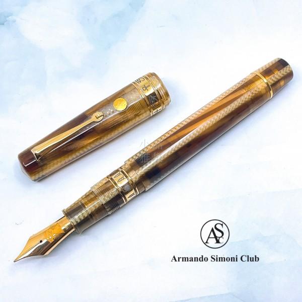 義大利 ASC Bologna Extra  波隆那 埃及系列  Nefertiti  娜芙蒂蒂 氣壓上墨 14K彈性尖鋼筆