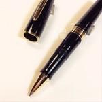 法國 Waterman Charleston 查理斯登系列 鋼珠筆(黑桿金夾款)