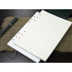 臺灣 Leatai 磊泰 介紙 鋼筆專用書寫紙 方格+橫線內頁補充包 /  A5活頁紙6孔 / 每份80張160頁