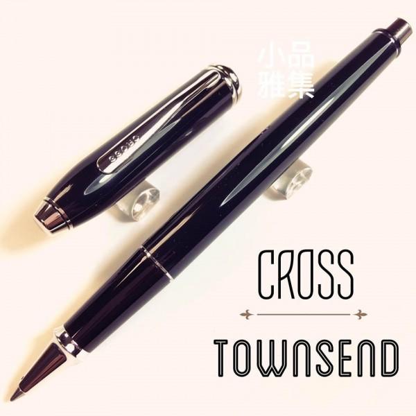 CROSS 高仕TOWNSEND 濤聲系列 黑琺瑯鋼珠筆(銀夾)