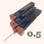 德國 FABER-CASTELL 輝柏 0.5mm 筆芯 (12支裝)(120500)
