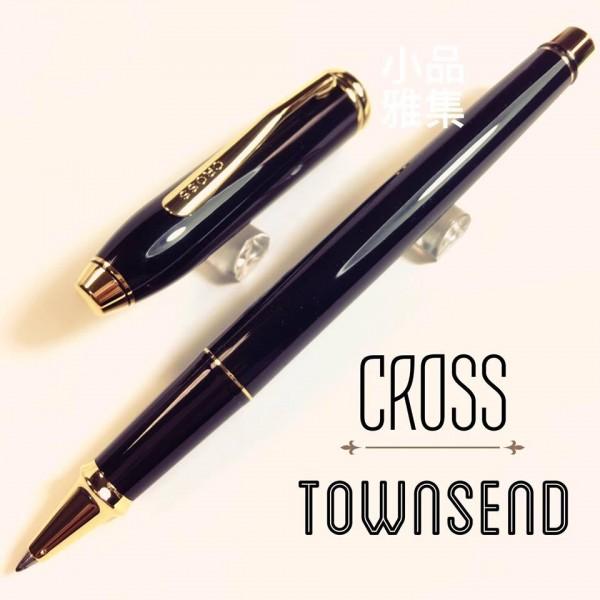CROSS 高仕TOWNSEND 濤聲系列 黑琺瑯鋼珠筆(金夾)