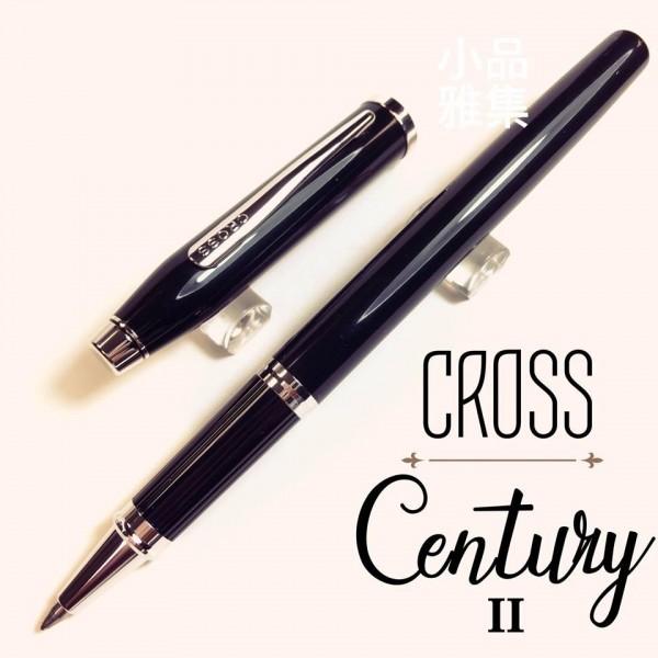 CROSS高仕 Century II 亮黑銀夾 鋼珠筆