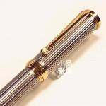 小品雅集 獨家訂製款 金屬直條紋 書寫鋼筆