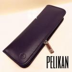德國 Pelikan 百利金 二支裝 真皮 拉鍊筆套(光滑款)