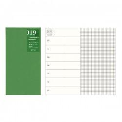 日本 MIDORI TRAVELER'S notebook #019 週間+方格手帳