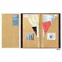 日本 MIDORI TRAVELER'S notebook #020 牛皮紙口袋