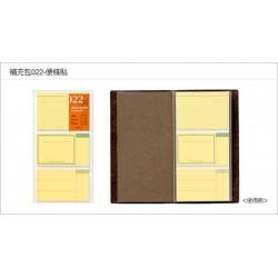 日本 MIDORI TRAVELER'S notebook #022 便條貼